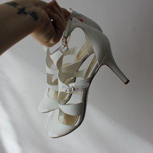 Nine West White Heels Size 9.5